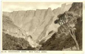 Drakensberg Range: Main Tugela Gorge, Union of South Africa,  White Border