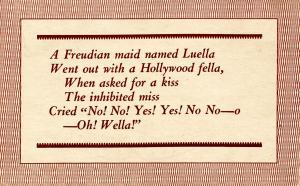 Limerick - A Freudian maid named Luella  (Humor)