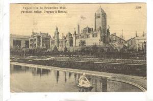 Exposition de Bruzelles [BELGIUM] 1910 , Pavillons Itakien, Uruguay & Herstal...