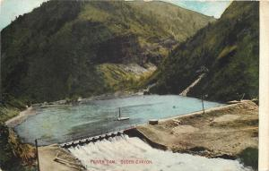 Ogden Utah~Power Dam~Ogden Canyon~Mountain in Background 1910 Postcard