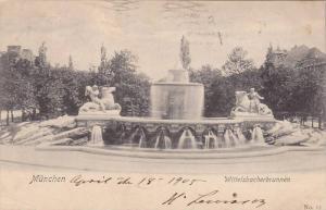Wittlesbacherbrunnen, Muechen, Bavaria, Germany,  PU-1905