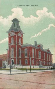 Columbia City~Overcast Day~Count the Bricks @ The High School~c1906 Postcard pc
