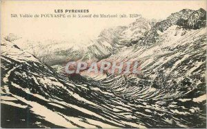 Old Postcard Vallee Pouyaspe and the steep Marbore (altitude 3253 m)