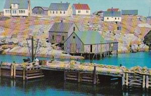 Canada Nova Scotia Peggy's Cove Waterfront Scene