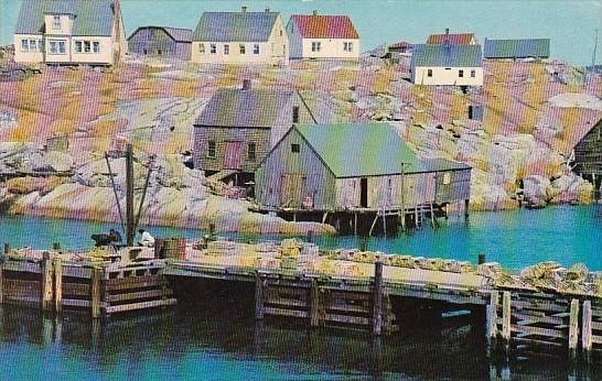 Canada Nova Scotia Peggy's Cove Waterfront Scene