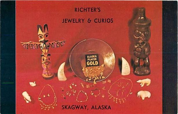 Gold Display at Richter's Jewlery & Curios Skagway AK