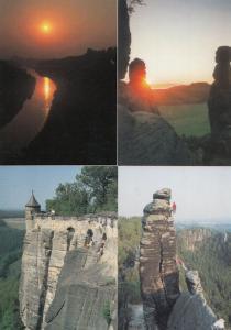 Elbsandsteingebirge Elbe Sandstone Mountains Germany Bohemian 4x Postcard s
