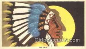 The Chief Indian Postcard, Post Card Unused