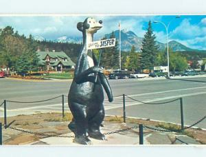 Unused Pre-1980 JASPER THE BEAR STATUE Jasper Alberta AB H9972