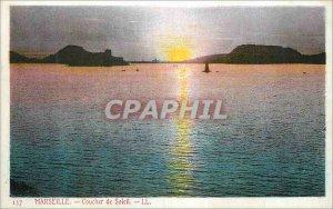 Postcard Old Marseille Sunset