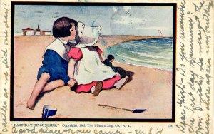 Sunbonnet Girl - Last Day of Summer   Artist: Dorothy Dixon (Series 1390)