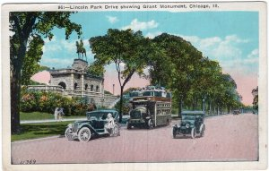 Chicago, Ill, Lincoln Park Drive showing Grant Monument