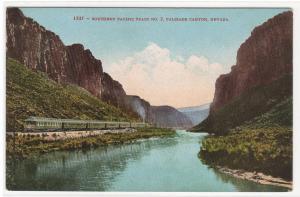 Southern Pacific SP Train Palisade Canyon Nevada 1910c postcard