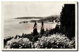 Old Postcard Menton and Cap Martin