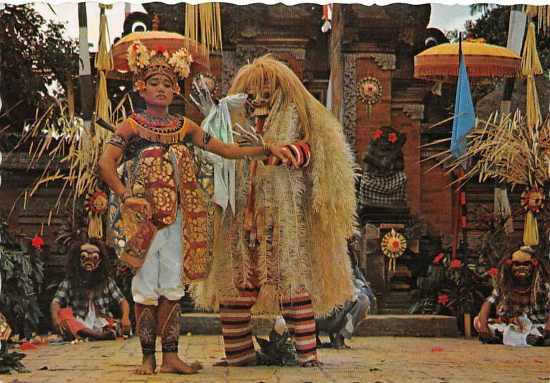 Indonesia An act in Barong Dance Bali