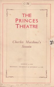 Charles Macdona The Wandering Jew Matheson Lang Theatre Programme