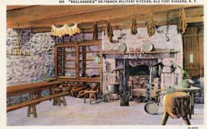 NY - Old Fort Niagara, Boulangerie or French Military Kitchen, Interior