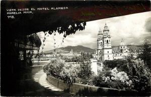 c1940s Real Photo Postcard; Vista Desde El Hotel Alameda, Morelia Mich. Mexico