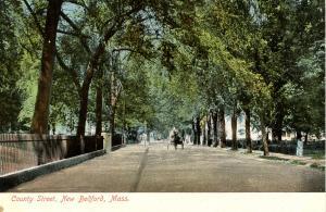 MA - New Bedford. County Street circa 1900