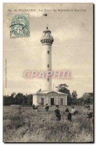 Old Postcard St Nazaire La Tour De Kerlédé A Fire Fixed