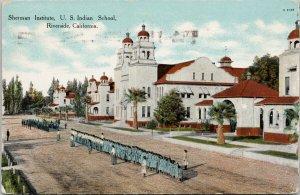 Sherman Institute US Indian School Riverside CA Postcard F46