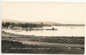 Lincolnville Beach ME Water View Eastern Illustrating RPPC Real Photo Postcard