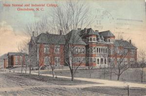 Greensboro North Carolina State Normal Industrial College Postcard K80990