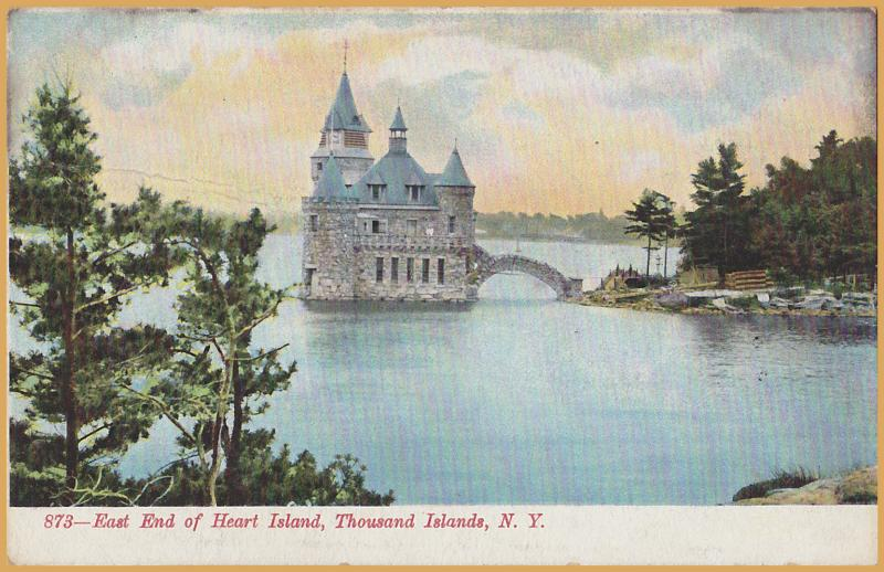 Thousand Islands, New York, East End of Heart Island -