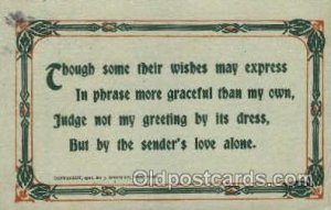 Sayings, Quotes, 1913 crease left top and right bottom corner