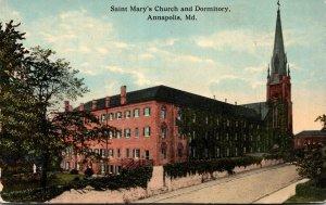 Maryland Annapolis Saint Mary's Church and Dormitory Curteich