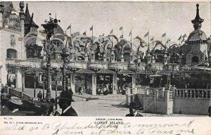 Arcade, Luna Park, Coney Island, Brooklyn, New York, Early Postcard, Unused