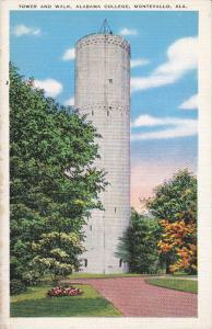 Tower & Walk , Alabama College , MONTEVALLO , Alabama , 30-40s
