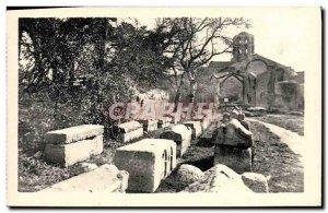 Old Postcard Arles Sur Rhone A Corner of Alyscamps Chapel Saint Honorat
