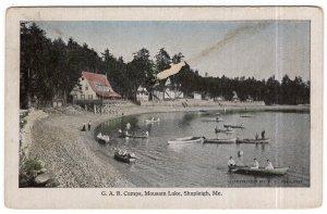 Shapleigh, Me., G. A. R. Camps, Mousam Lake