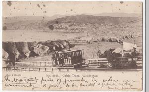 New Zealand; Cable Tram, Wellington PPC, 1905 PMK, UB, To Mrs Simpson, Lincoln