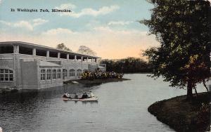 In Washington Park, Milwaukee, Wisconsin, Early Postcard, Unused