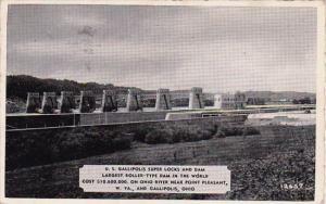 Ohio Gallipolish U S Gallipolis Super Locks and Dam Largest Roller 1941