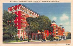 Majestic Hotel, Hot Springs National Park, Arkansas, Early Postcard, Unused