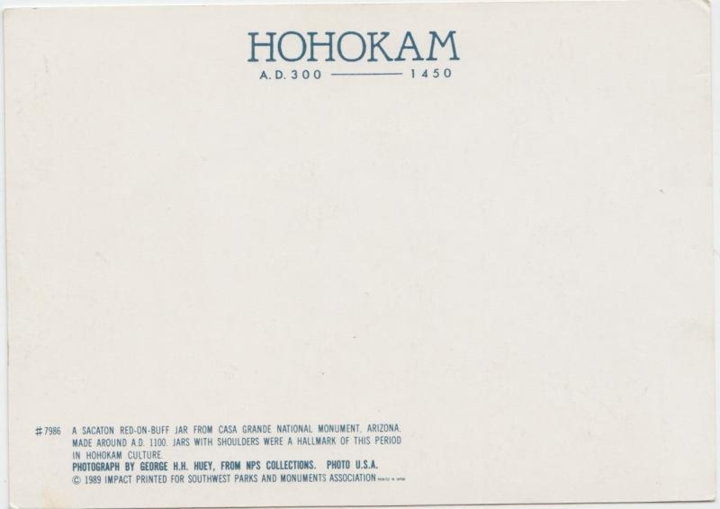 HOHOKAM, A.D. 300-1450, Sacaton red-on-buff jar, Casa Grande National Monument,