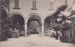 Cortile Dell'Hotel Brun, Bologna (Emilia-Romagna), Italy, 1900-1910s