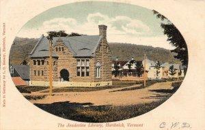 LP40 Jeudevine Library Hardwick Vermont Vintage Postcard