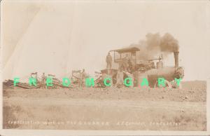 C.1908 Kansas RPPC: Garden City, Gulf & Northern Railroad Construction
