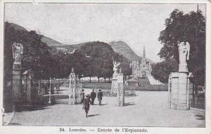 France Lourdes Entree de l'Esplanade