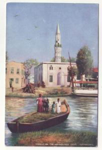 P270 JLs old tucks postcard egypt mosque on canal alexandria