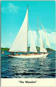 ST. THOMAS, U.S. Virgin Islands Postcard YACHT MANDOO Capt. Dyke Wilmerding