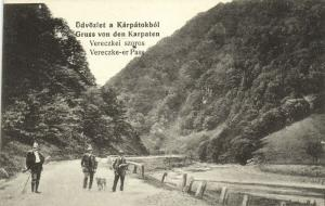 ukraine russia, Carpathians, Verecke Veretsky Vereczke-er Pass (1910s)