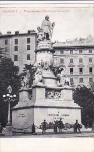 Italy Genova Monumento Cristoforo Colombo