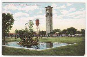 Fort Sam Houston Tower San Antonio Texas 1910c postcard
