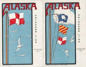 PRINCESS LINE to Alaska , 1941 ; Passenger List