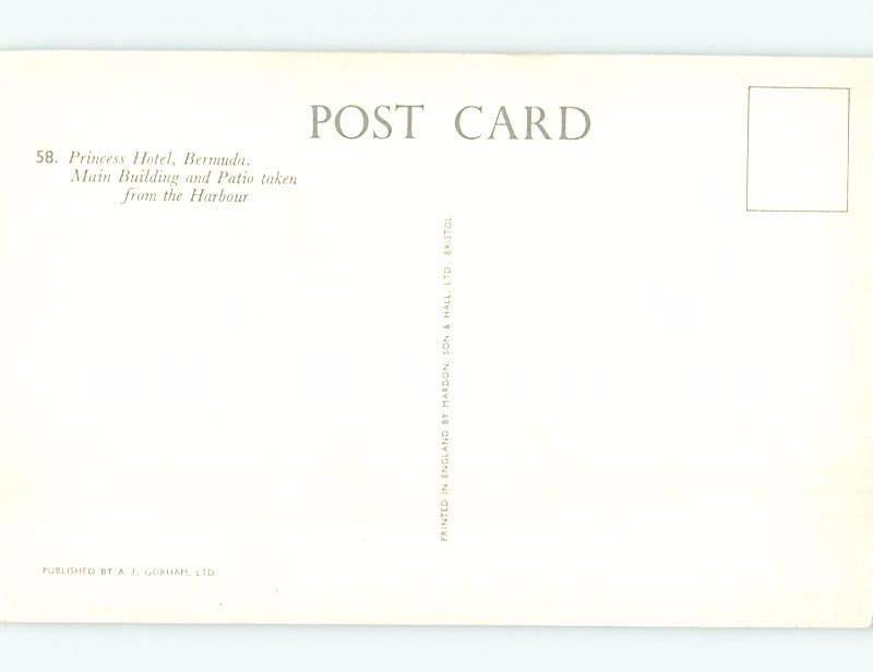 Unused Pre-1980 PRINCESS HOTEL Hamilton Bermuda F6159@